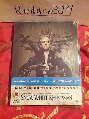 Snow White & The Huntsman Blu-Ray Steelbook, Brand New, Factory Sealed [UK]