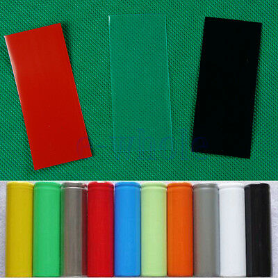 20PCS 18650 Battery Wrap PVC Heat Shrink Tube Pre-cut Precut  WS