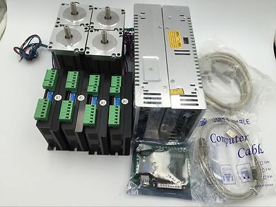 4Axis CNC Stepper Kit 3Nm Nema23 Motor Driver+5Axis Board CNC Mill Laser Cutting