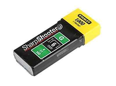1000 Heavy Duty 6mm Stanley 1-TRA704T SharpShooter Staples Type G, 4, 11, or 140