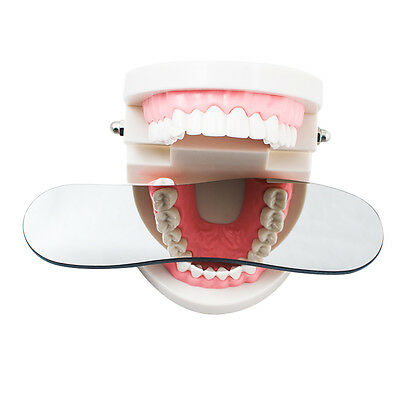 Dental Intraoral Orthodontic Photographic Glass Mirror 2 sided Rhodium Occlusal