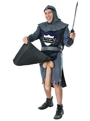 Adult Knight To Remember Rude Flasher Stag Night Party Fancy Dress Costume New