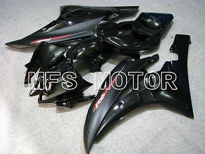 MOTORCYCLE ABS FAIRING BODYWORK FOR Yamaha 2006-2007 YZF-R6 Injection Kit Black
