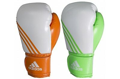 Adidas BOX-FIT Neon Boxing Gloves Training Sparring Boxercise Gloves 10oz 12oz
