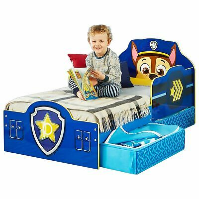 Paw Patrol Chase Toddler Bed With Underbed Storage + Mattress Options Available