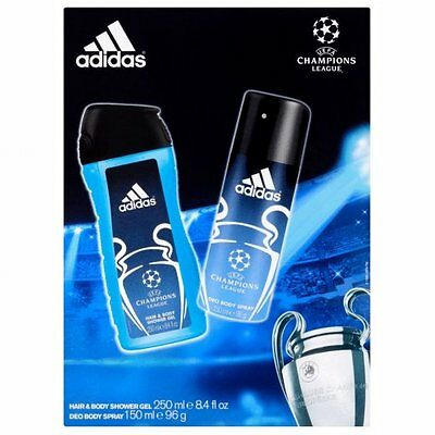 Adidas Champions League Body Spray & Hair And Body Shower Gel Duo Gift Set