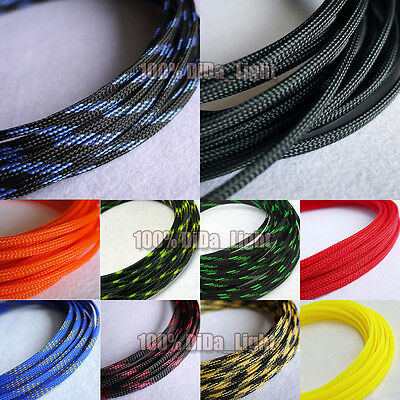 6mm High Densely Tight Braided PET Expandable Sleeving Cable Wire Sheath