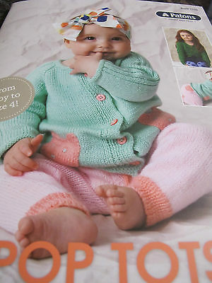 Patons Knitting Pattern,new,no 1103,for Baby To 4 Yrs,10 Designs