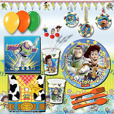Disney Pixar's Toy Story Children's Birthday Party DELUXE Pack Kit for 16 Guests
