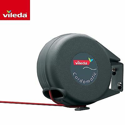 Vileda Cordomatic 15m Retractable Clothes Line Laundry Washing Dryer Airer Reel