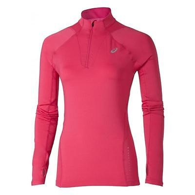 Asics Women's Long Sleeve Half Zip Running Top: Pink