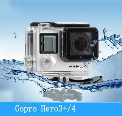 Waterproof Diving Housing Case for GoPro Hero 3+/4 Plus Accessory FAST SHIP MIR