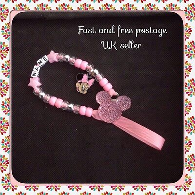 Girls Personalised Dummy Clip With Or Without Mam Adapter