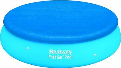 Pool Cover Bestway 8 ft foot 8' Round Fast Set Paddling Swimming Debris Protect