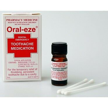 Oral-Eze Dental Emergency Toothache Medication 5ML NEW