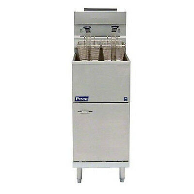 Pitco 40D Tube Fired Gas Floor Model Fryer 40-45 lb. Capacity