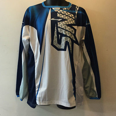 Sinisalo Blue White Motorbike Motorcycle Mx Moto-X Offroad Quad Jersey Top