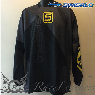 Sinisalo Black Yellow Motorbike Motorcycle Mx Moto-X Offroad Quad Jersey Top
