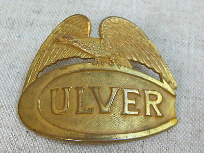 Vtg 1930s/40s Solid Brass Obsolete Culver Military Academy  Badge Pin
