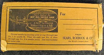 Antiques  Punch Best Needle Rug Sears & Roebuck in Original Box (AB49)