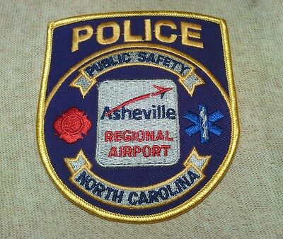 NC Asheville Regional Airport North Carolina Police Patch