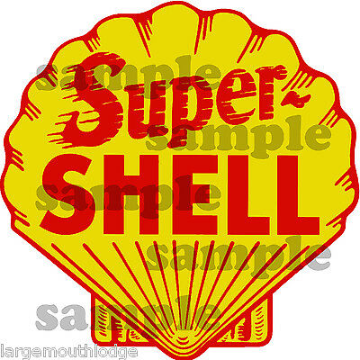 Vintage Style 2 Inch Super Shell Gas Oil Decal Sticker