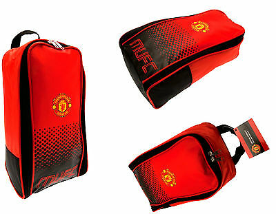 Manchester United Fc Bootbag School Kit Sports Shin Pad Boot Shoe Bag Man Utd