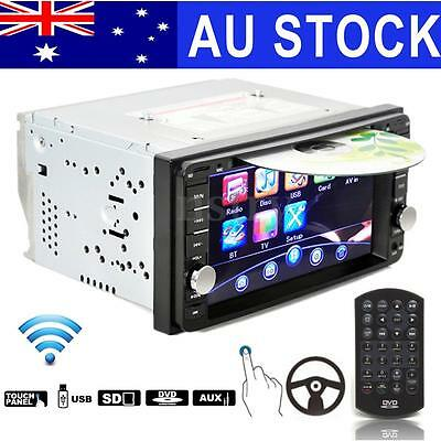"Double 2 Din 6.2"" Bluetooth Car Stereo DVD USB SD Touch Screen In Dash Player AU"