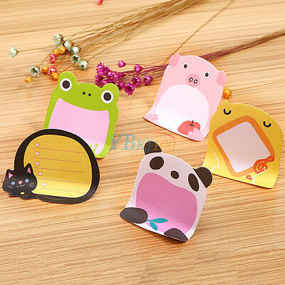 Animals Sticker Cartoon Sticky Notes Frog Elephant Pig Panda Message Memo Pads