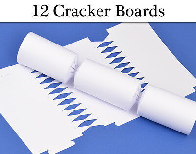 12 Basic White Make & Fill Your Own Crackers - Great for Kids