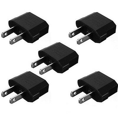 5pcs European EU to US USA Travel Power Charger Adapter Plug Outlet Converter jd