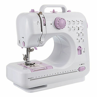 DIY 12 Stitches Multifunctional Electric Overlock Sewing Machine Household Tool