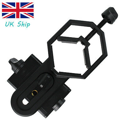 UK Universal Cell Phone Adapter Mount for 25-48mm Telescope Binocular Microscope