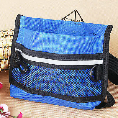 Waist Pouch Training Bag with Buckle Belt Dog Pet Treat Bait Puppy Reward Blue