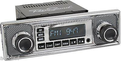MERCEDES, BMW, VW RetroSound ONE C, Car Radio for classic cars with USB + SD
