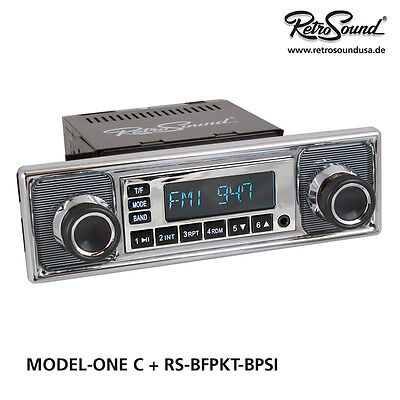 "BMW 1800 1963-72 Car Radio ""Becker pinstripe"" for classic cars USB, BT"