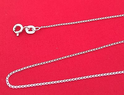 Solid 925 Sterling Silver 1.2 mm 16 18 20 22 or 24 Inch Open Curb Chain Necklace