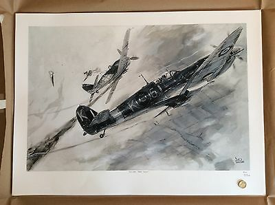 Limited Edition Aviation Print Spitfire MkIX and FW190 A8 Keith Burns
