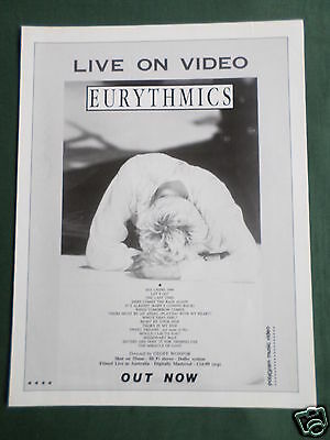 Eurythmics - Magazine Clipping / Cutting- 1 Page Advert - #2