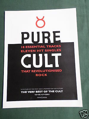 The Cult - Magazine Clipping / Cutting- 1 Page Advert
