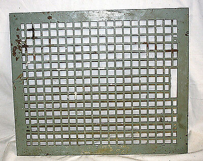 """Huge Antique Cast Iron Heating Grate Cover 24.25"""" X 20.25"""""""