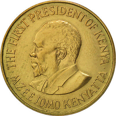 [#412822] Kenya, 5 Cents, 1978, SS+, Nickel-brass, KM:10