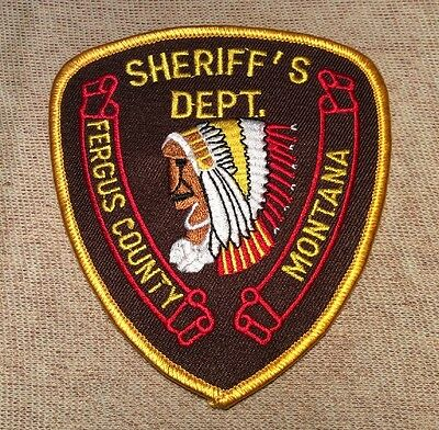 MT Fergus County Montana Sheriff Patch