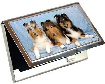 Collie Rough Business Card / Credit Card Case