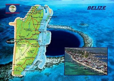 Belize Country Map New Postcard