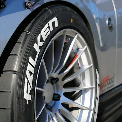 "FALKEN TIRE LETTERING (Permanent) - 1.25"" For 18"" and 19"" Wheels (4 decals)"