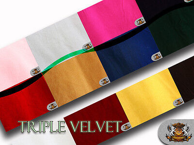 """Triple Velvet Fabric / 44"""" Wide / Sold By The Yard"""
