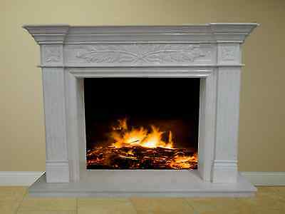 White Marble Fireplace Mantel Living Room Family Home FPS-18