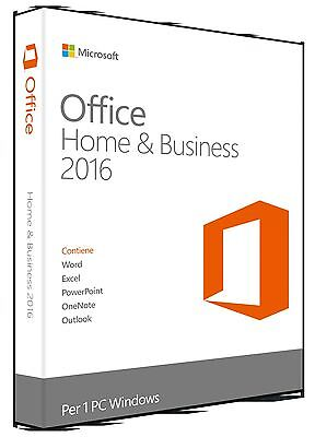 Microsoft Office 2016 Home and Business 32/64 bit - Fattura