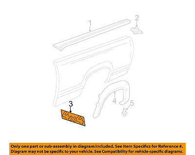 GM OEM Pickup Bed-Decal Sticker 15139042